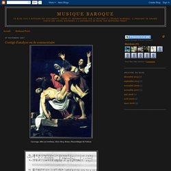Musique baroque: Corrigé d'analyse ou de commentaire