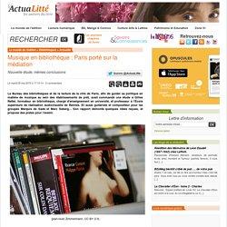 Musique en bibliothèque : Paris porté sur la médiation