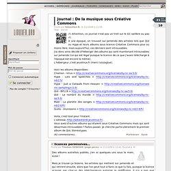 Journal de sebastienb: De la musique sous Créative Commons