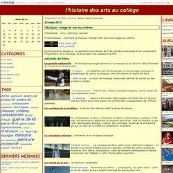 Thématique Arts, créations, cultures - interactions musique, image et son au cinéma