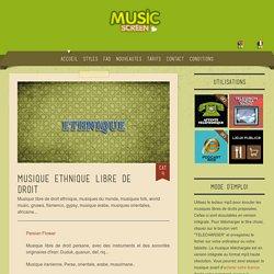 Musique libre de droit ethnique