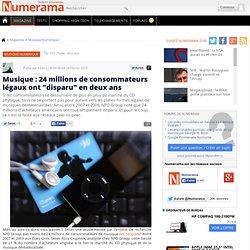 """Musique : 24 millions de consommateurs légaux ont """"disparu"""" en d"""