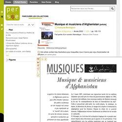 Musique et musiciens d'Afghanistan