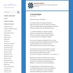 A la musique, poème d'Arthur Rimbaud