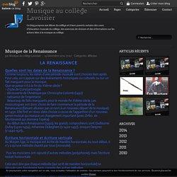 Musique de la Renaissance - Musique au collège Lavoisier