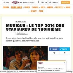 Musique: le top 2014 des stagiaires detroisième