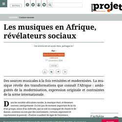 Les musiques en Afrique, révélateurs sociaux
