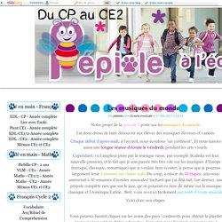 Les musiques du monde - Pépiole à l'école