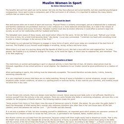 Muslim Women in Sport