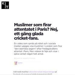 Muslimer som firar attentatet i Paris? Nej, ett gäng glada cricket-fans.