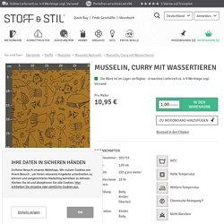 Musselin, Curry mit Wassertieren - STOFF & STIL