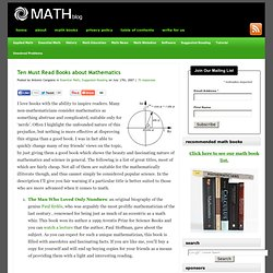 Ten Must Read Books about Mathematics
