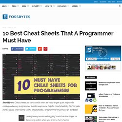 10 Must Have Cheat Sheets For Programmers