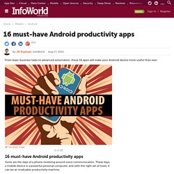 16 must-have Android productivity apps