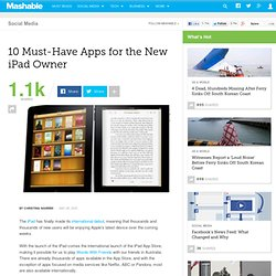 10 Must-Have Apps for the New iPad Owner