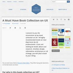 A Must Have Book Collection on UX » Paul Olyslager