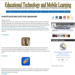 10 Must Have iPad Apps for Librarians