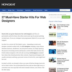 27 Must-Have Starter Kits For Web Designers