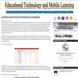 10 Must Have Tools for BYOD Classroom