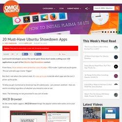 20 Must-Have Ubuntu Showdown Apps