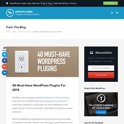 40 Must-Have WordPress Plugins For 2014