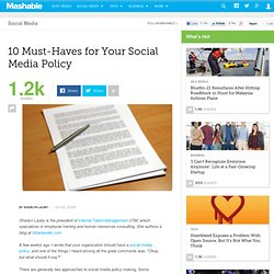 10 Must-Haves for Your Social Media Policy