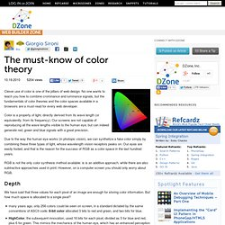 The must-know of color theory