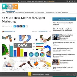 14 Must-Have Metrics for Digital Marketing