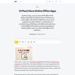 10 Must Have Online Office Apps