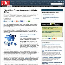 7 Must-Have Project Management Skills for IT Pros