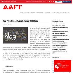 Top 7 Must Read Public Relation (PR) Blogs