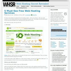 5 Must-See Free Web Hosting Services