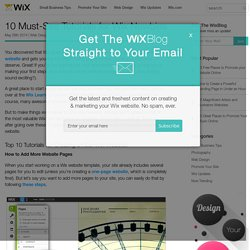 10 Must-See Tutorials for Wix Newbies