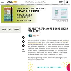 50 Must-Read Short Books Under 250 Pages