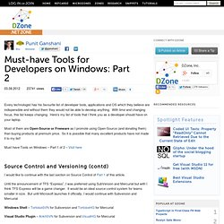 Must-have Tools for Developers on Windows: Part 2