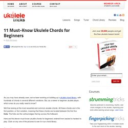 11 Must-Know Ukulele Chords for Beginners
