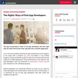 4 Must-Use Ways to Find App Developers