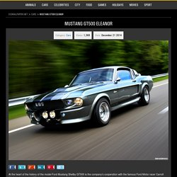 Mustang GT500 Eleanor HD Desktop Wallpapers