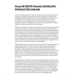 Koop DE BESTE Mustela ZUIGELING-PRODUCTEN ONLINE