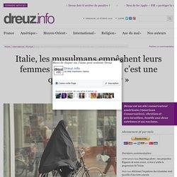 Italie, les musulmans empêchent leurs femmes de faire du vélo : «c'est une question de pudeur»