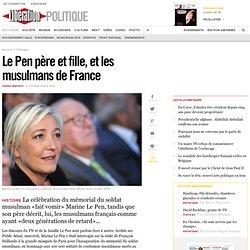 Le Pen père et fille, et les musulmans de France