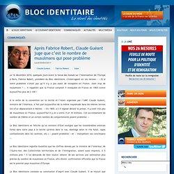 Après Fabrice Robert, Claude Guéant juge que c'est le nombre de musulmans qui pose problème