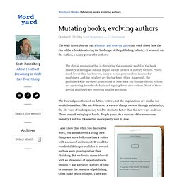 Mutating books, evolving authors