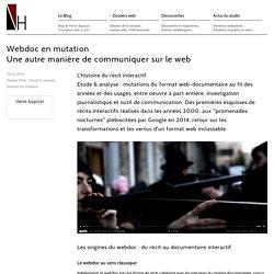 Webdoc en mutation, une autre manière de communiquer sur le web.