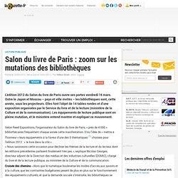 Salon du livre de Paris : zoom sur les mutations des bibliothèques