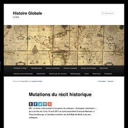 Mutations du récit historique