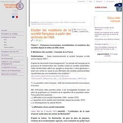 Etudier les mutations de la société française à partir des archives de l'INA
