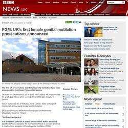 FGM: UK's first female genital mutilation prosecutions announced