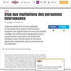 Stop aux mutilations des personnes intersexuées
