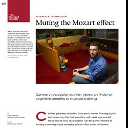Muting the Mozart effect